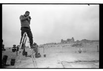 Director Dr. Guy Stiebel taking field photos. Photo Credit: Hai Ashkenazi
